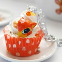Fawn Cupcake Necklace by AndyGlamasaurus