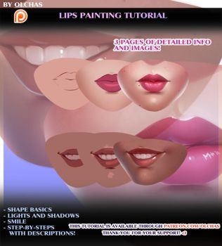 Lips Painting Tutorial preview by OlchaS