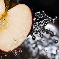 apple square splash by SaphoPhotographics