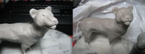 :.White Lion-WIP.: by XPantherArtX