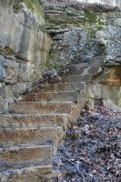 Cliff Stairs - 1 by Seductive-Stock