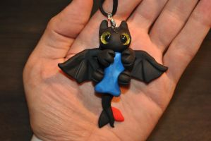 Toothless Pendant by KirstenBerryCrafts