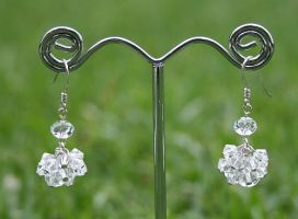 Swarovski Earrings: Clear by Bria-Silivren