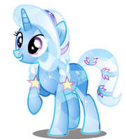 Trixie as Crystal Pony by LimeDazzle