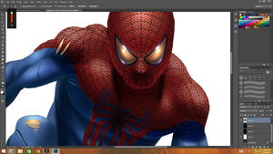 Spidey Close Up by JonathanGragg