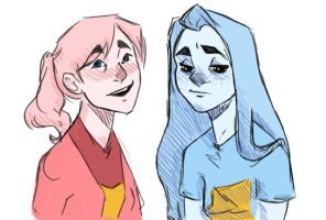 Pink And Blue by Agnesaur