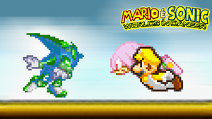 Mario and Knuckles vs Chaos the Hedgehog by jmkrebs30