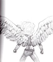 Hawkgirl Sketch by Comix-Chick