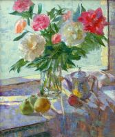 Still life with peonies by AmsterdamArtGallery