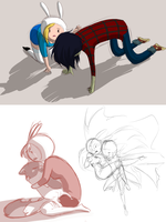 Adventure Time sketches 002 by uzikowa