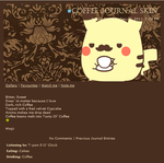 Coffee time journal skin by MinjiXMuu-chan