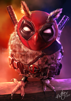 Deadpool Owl by 4steex