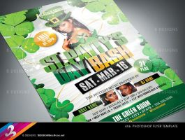 St Pattys Day Bash Flyer Template by AnotherBcreation