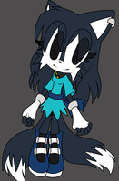 :gift: Janice Uchiha sonic style flat color by tailsfan1996