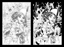 Princess Leia Pencils by Terry Dodson by TheInkPages