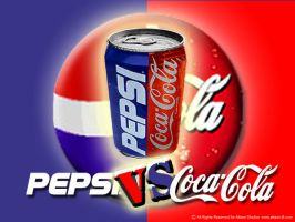 Pepsi vs Coca-cola by Attarzi