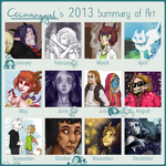 2013 Summary of Art by Cecaangyal