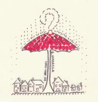 Red umbrella by Bloodysfish