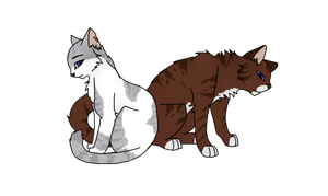 Hawkfrost and Ivypool by Slate-Blue