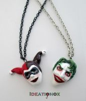 Harley's Joker and Joker's Harly necklaces by Ideationox