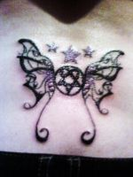 My second tattoo (HIM Heartagram) by LaLaLaNiceLady