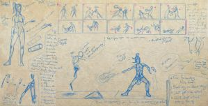 Korra doodles and a storyboard/thumbnailing by aaqucnaona