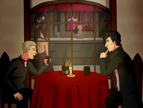 Johnlock Valentines day contesty thing by NellyMonster