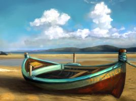Speed Paint Study Beached Boat by charfade