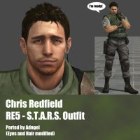 Chris Redfield RE5 S.T.A.R.S. Outfit by Adngel