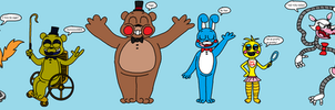 My Headcanon concepts of the FnaF 2 Crew (Update2) by Kriztian-Draws