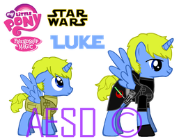 MLP: Jedi Pony and Youngling Foal Luke Skypony by AESD