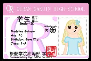 Madeline Ouran ID card by purplekatz93