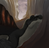Canyon spinosaur by Promilie