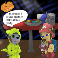 Halloween party pic 1 by ZWolfArt
