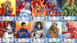 DC New 52 Sketch Cards: 11-20 by skardash