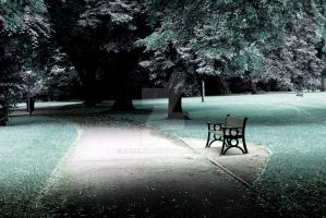 Park bench by steflizz