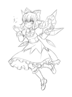 Rough Draft - Cirno by Rinselli-chan