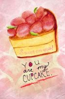 You Are My Cupcake ValentineCard by Diamara