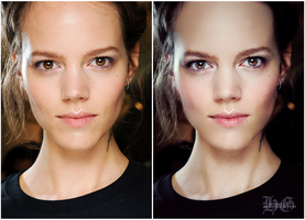 Before and After : Freja Beha Erichsen Retouch by HayleyGuinevere