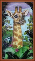 Giraffe Shadowbox by Myrcury-Art