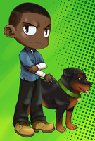 GTA 5: Franklin and Chop by neoanimegirl