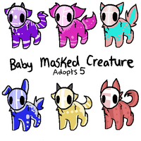 Baby Masked Creature Adopts 5~ CLOSED by RCAdopts
