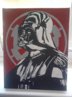 Vader Canvas by etixmophead