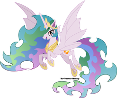 Bat Princess Celestia by Vector-Brony