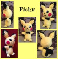 Crochet Pichu by Mr-Nova