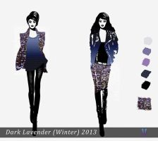 Dark Lavender (winter outdoor clothes) by Marsha-Veliguro