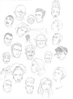 Page of Heads by amichaels