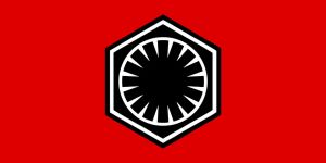 Flag of the First Order (Black/White/Red) by RedRich1917