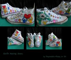 Keith Haring Shoes by Pshychedelic-Poppy
