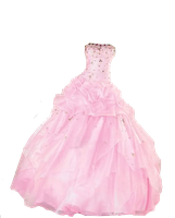 Pink Ball Gown PNG by Vixen1978